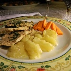 Transylvanian food: Szekler pork with apple. Photo: count Kalnoky.