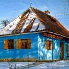 The Blue House, Miklosvar, Transylvania. Photo: Tibor Kalnoky.